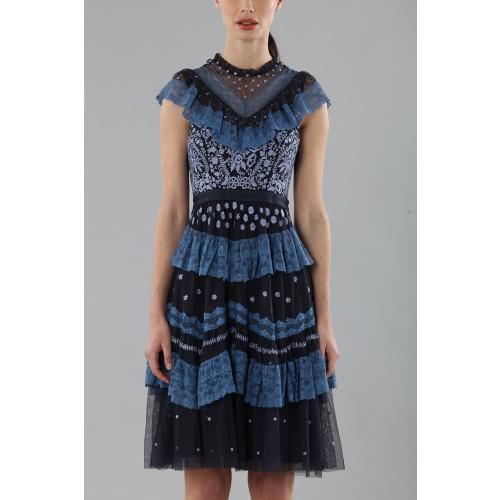 Vendita Abbigliamento Usato FIrmato - Abito corto con balze e ricamo floreale - Needle&Thread - Drexcode -2