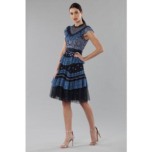 Vendita Abbigliamento Usato FIrmato - Abito corto con balze e ricamo floreale - Needle&Thread - Drexcode -4