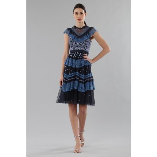 Vendita Abbigliamento Usato FIrmato - Abito corto con balze e ricamo floreale - Needle&Thread - Drexcode -8