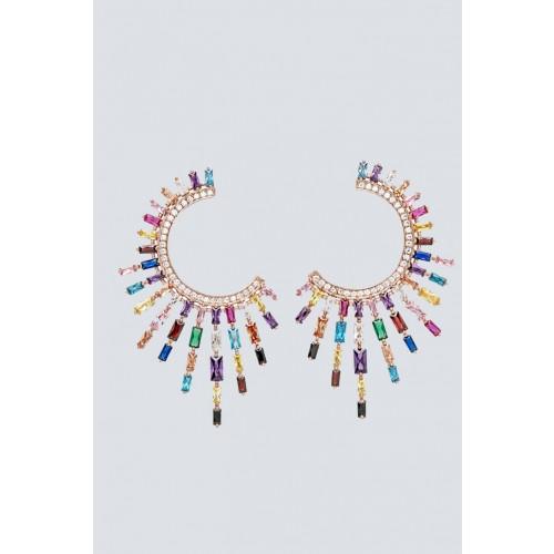Vendita Abbigliamento Usato FIrmato - Orecchini pendenti a luna con pietre multicolore - Nickho Rey - Drexcode -1