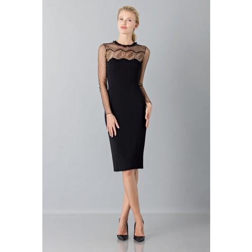 Vendita Abbigliamento Usato FIrmato - Abito nero con decori in pizzo e plumetis - Blumarine - Drexcode -4