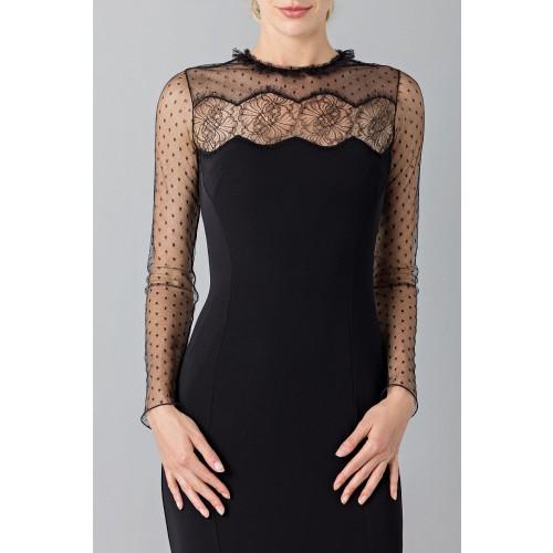 Vendita Abbigliamento Usato FIrmato - Abito nero con decori in pizzo e plumetis - Blumarine - Drexcode -5