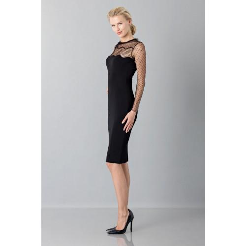 Vendita Abbigliamento Usato FIrmato - Abito nero con decori in pizzo e plumetis - Blumarine - Drexcode -2