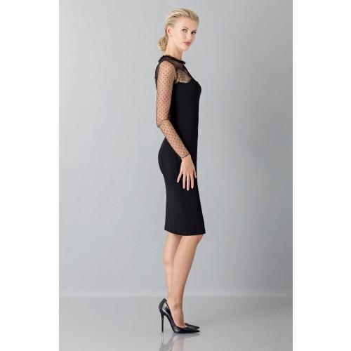 Vendita Abbigliamento Usato FIrmato - Abito nero con decori in pizzo e plumetis - Blumarine - Drexcode -1