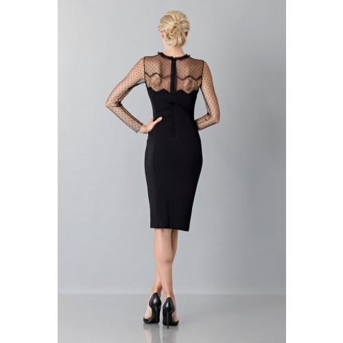 Vendita Abbigliamento Usato FIrmato - Abito nero con decori in pizzo e plumetis - Blumarine - Drexcode -3