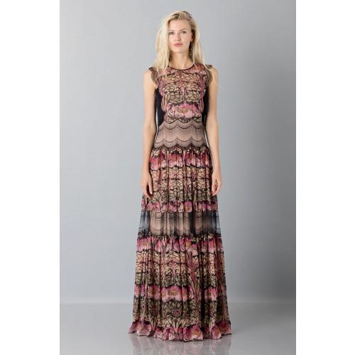 Vendita Abbigliamento Usato FIrmato - Abito in chiffon di seta e merletto - Alberta Ferretti - Drexcode -4