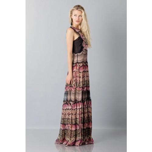 Vendita Abbigliamento Usato FIrmato - Abito in chiffon di seta e merletto - Alberta Ferretti - Drexcode -6