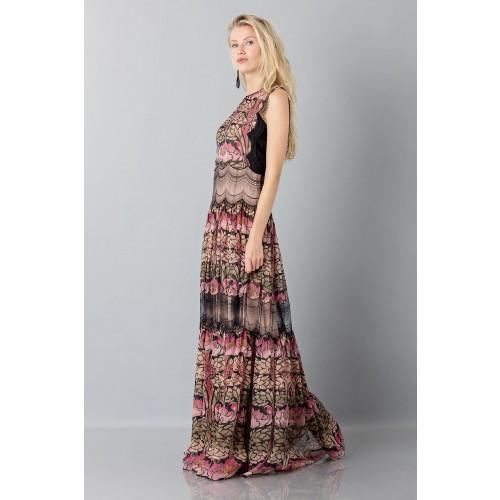 Vendita Abbigliamento Usato FIrmato - Abito in chiffon di seta e merletto - Alberta Ferretti - Drexcode -3