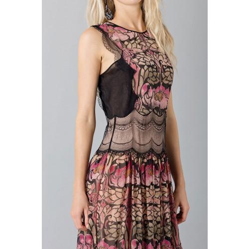 Vendita Abbigliamento Usato FIrmato - Abito in chiffon di seta e merletto - Alberta Ferretti - Drexcode -5