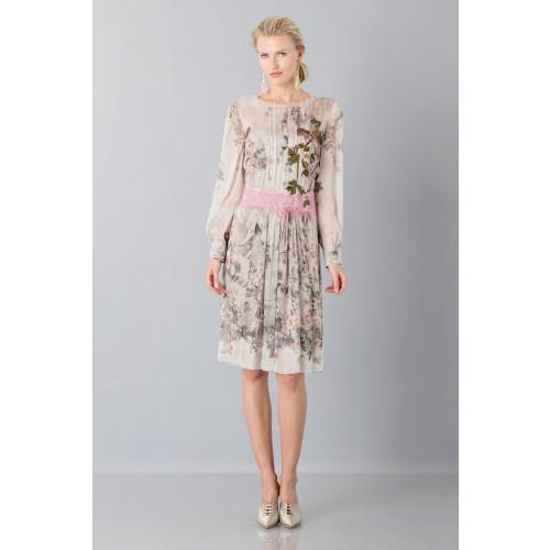Vendita Abbigliamento Usato FIrmato - Abito in chiffon di seta con motivo floreale - Alberta Ferretti - Drexcode -7
