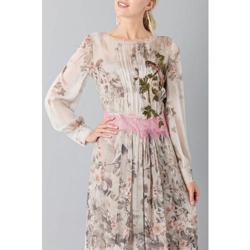 Vendita Abbigliamento Usato FIrmato - Abito in chiffon di seta con motivo floreale - Alberta Ferretti - Drexcode -2