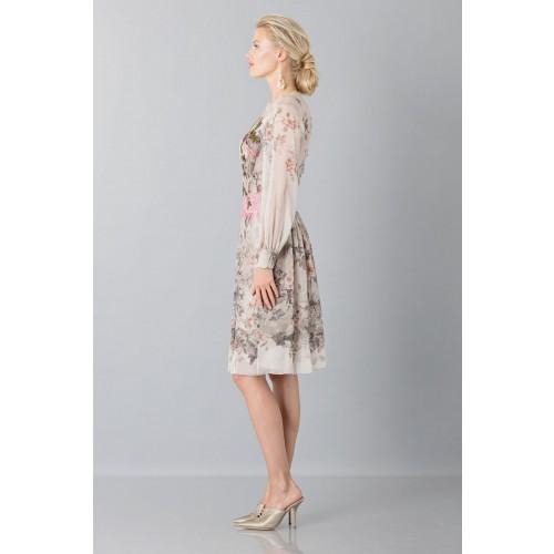 Vendita Abbigliamento Usato FIrmato - Abito in chiffon di seta con motivo floreale - Alberta Ferretti - Drexcode -4