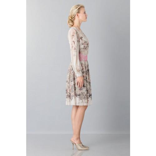 Vendita Abbigliamento Usato FIrmato - Abito in chiffon di seta con motivo floreale - Alberta Ferretti - Drexcode -3