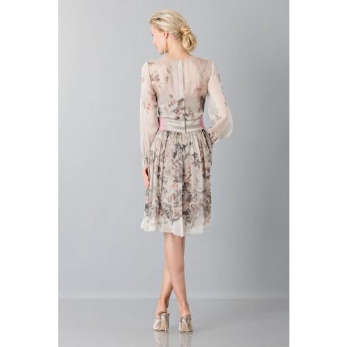 Vendita Abbigliamento Usato FIrmato - Abito in chiffon di seta con motivo floreale - Alberta Ferretti - Drexcode -5