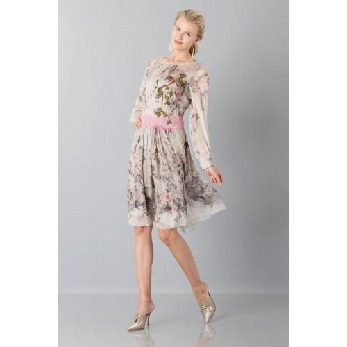Vendita Abbigliamento Usato FIrmato - Abito in chiffon di seta con motivo floreale - Alberta Ferretti - Drexcode -6