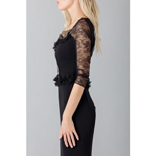 Vendita Abbigliamento Usato FIrmato - Abito nero a sirena con con maniche in pizzo - Blumarine - Drexcode -1