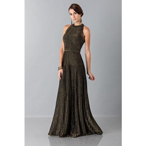 Vendita Abbigliamento Usato FIrmato - Abito con trame oro - Vionnet - Drexcode -2
