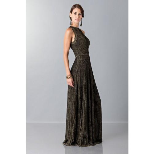 Vendita Abbigliamento Usato FIrmato - Abito con trame oro - Vionnet - Drexcode -4