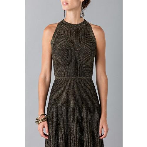 Vendita Abbigliamento Usato FIrmato - Abito con trame oro - Vionnet - Drexcode -6