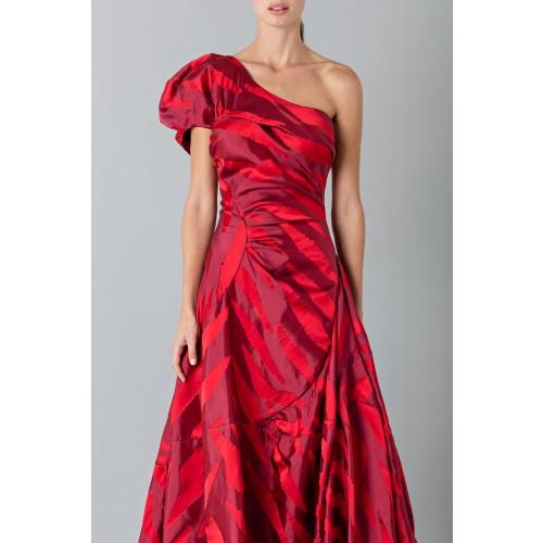 Vendita Abbigliamento Usato FIrmato - Abito rosso monospalla con manica a sbuffo - Vivienne Westwood - Drexcode -4