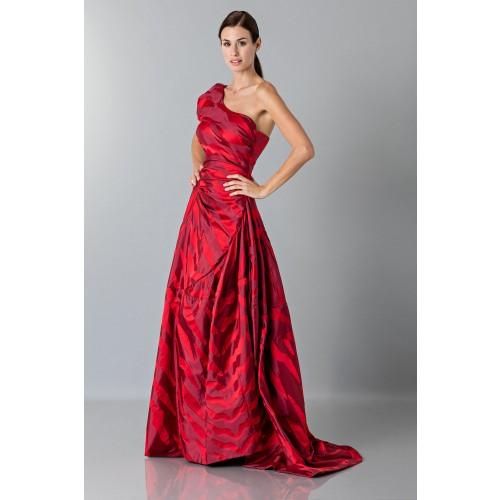 Vendita Abbigliamento Usato FIrmato - Abito rosso monospalla con manica a sbuffo - Vivienne Westwood - Drexcode -1