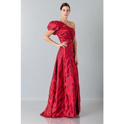 Vendita Abbigliamento Usato FIrmato - Abito rosso monospalla con manica a sbuffo - Vivienne Westwood - Drexcode -5