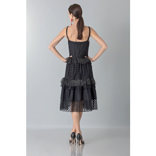 Vendita Abbigliamento Usato FIrmato - Abito sottoveste con piume - Rochas - Drexcode -5