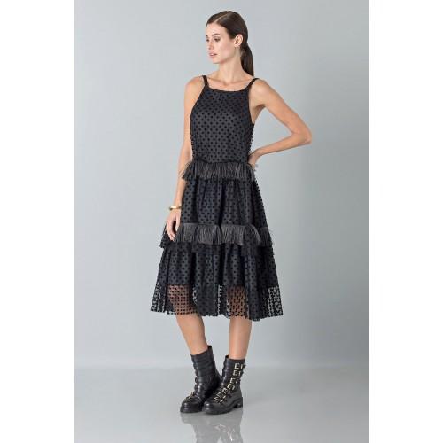 Vendita Abbigliamento Usato FIrmato - Abito sottoveste con piume - Rochas - Drexcode -6