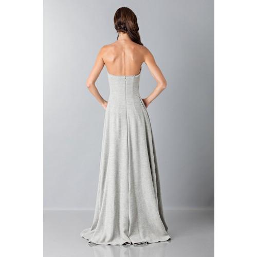 Vendita Abbigliamento Usato FIrmato - Bustier grigio in lana con applique a tema floreale - Alberta Ferretti - Drexcode -2