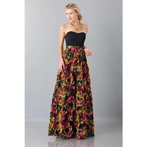 Vendita Abbigliamento Usato FIrmato - Gonna con applicazioni floreali - Blumarine - Drexcode -5