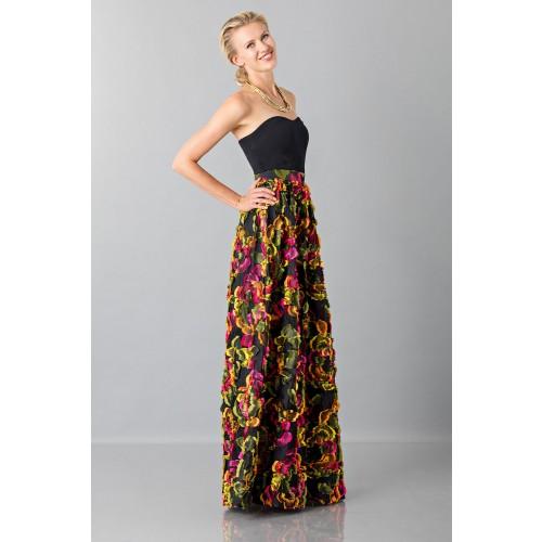 Vendita Abbigliamento Usato FIrmato - Gonna con applicazioni floreali - Blumarine - Drexcode -2