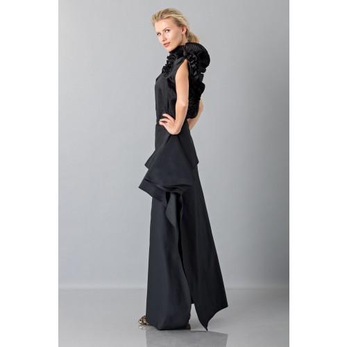 Vendita Abbigliamento Usato FIrmato - Gonna nera con drappeggio anteriore - Albino - Drexcode -4
