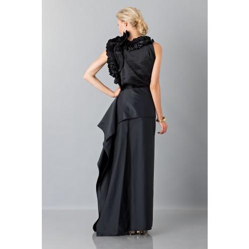 Vendita Abbigliamento Usato FIrmato - Gonna nera con drappeggio anteriore - Albino - Drexcode -5