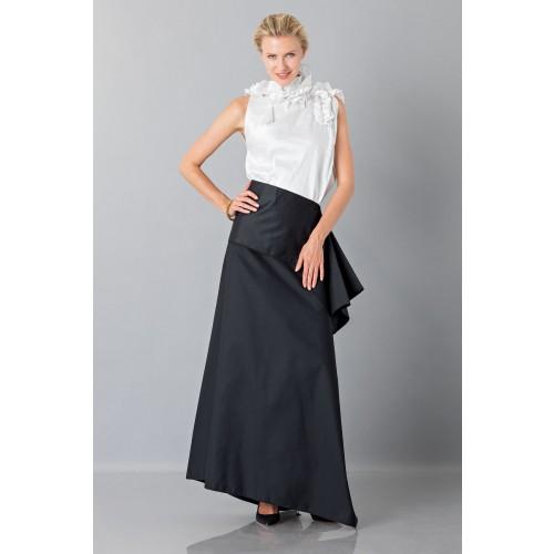 Vendita Abbigliamento Usato FIrmato - Gonna nera con drappeggio anteriore - Albino - Drexcode -2