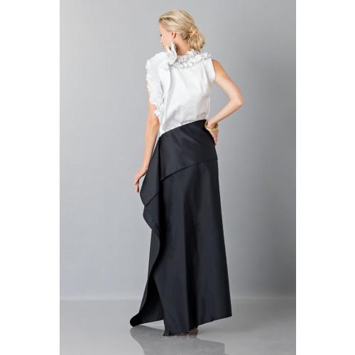 Vendita Abbigliamento Usato FIrmato - Gonna nera con drappeggio anteriore - Albino - Drexcode -1