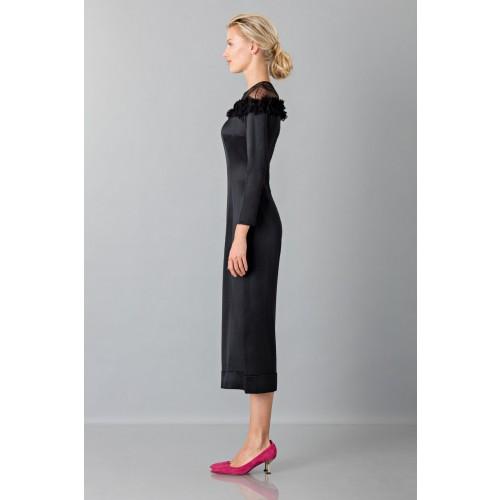 Vendita Abbigliamento Usato FIrmato - Jumpsuit nera longuette con pizzo off shoulder - Blumarine - Drexcode -5