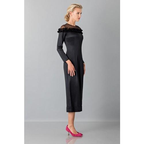 Vendita Abbigliamento Usato FIrmato - Jumpsuit nera longuette con pizzo off shoulder - Blumarine - Drexcode -6