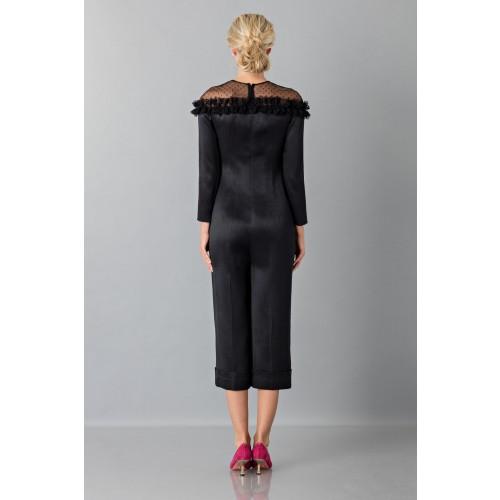 Vendita Abbigliamento Usato FIrmato - Jumpsuit nera longuette con pizzo off shoulder - Blumarine - Drexcode -4
