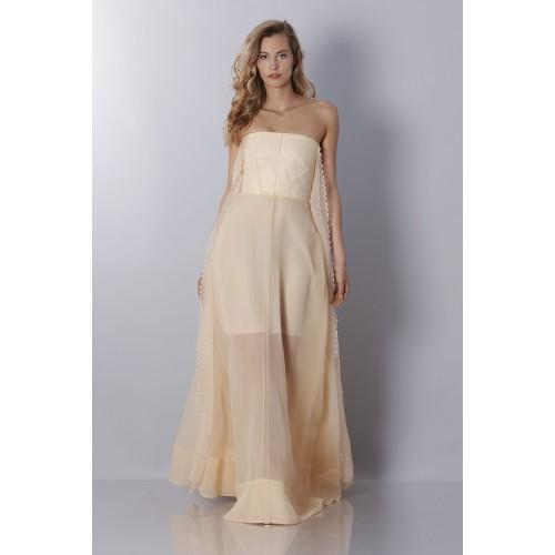Vendita Abbigliamento Usato FIrmato - Abito bustier avorio - Rochas - Drexcode -6