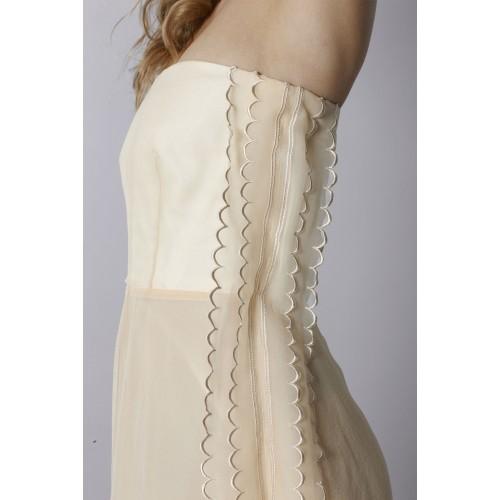 Vendita Abbigliamento Usato FIrmato - Abito bustier avorio - Rochas - Drexcode -4