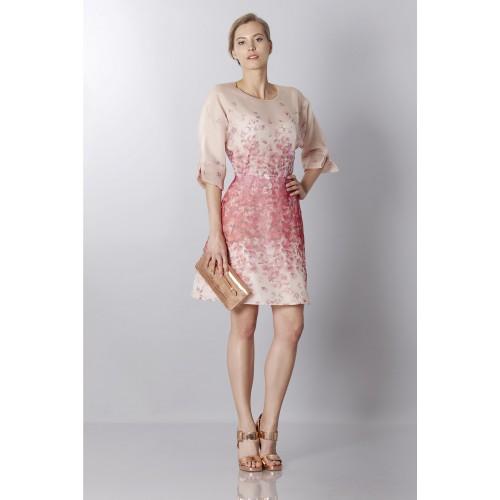 Vendita Abbigliamento Usato FIrmato - Abito in organza di seta con stampa floreale - Blumarine - Drexcode -6