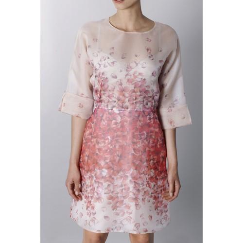 Vendita Abbigliamento Usato FIrmato - Abito in organza di seta con stampa floreale - Blumarine - Drexcode -5