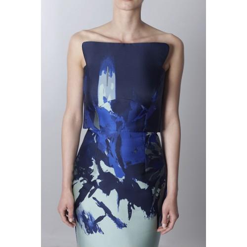 Vendita Abbigliamento Usato FIrmato - Bustier asimmetrico con stampa floreale - Antonio Berardi - Drexcode -5