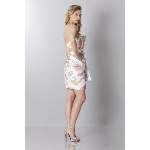 Vendita Abbigliamento Usato FIrmato - Abito bustier in seta con stampa fantasia - Moschino - Drexcode -2