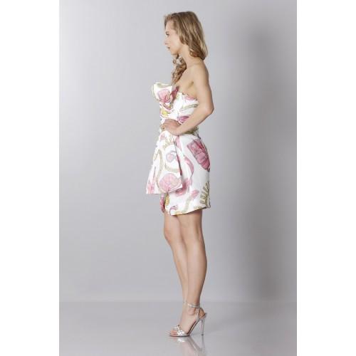 Vendita Abbigliamento Usato FIrmato - Abito bustier in seta con stampa fantasia - Moschino - Drexcode -3