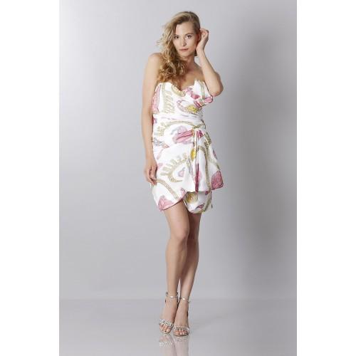 Vendita Abbigliamento Usato FIrmato - Abito bustier in seta con stampa fantasia - Moschino - Drexcode -1