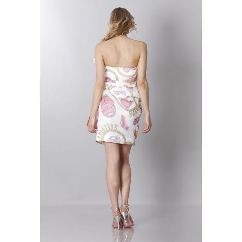 Vendita Abbigliamento Usato FIrmato - Abito bustier in seta con stampa fantasia - Moschino - Drexcode -6