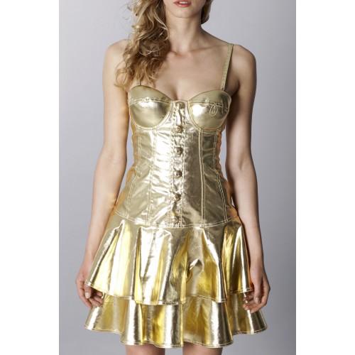 Vendita Abbigliamento Usato FIrmato - Abito in denim metallico - Moschino - Drexcode -1