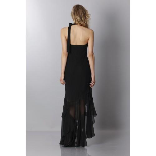 Vendita Abbigliamento Usato FIrmato - Abito in chiffon nero - Alberta Ferretti - Drexcode -3