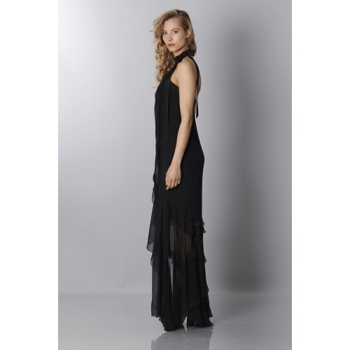 Vendita Abbigliamento Usato FIrmato - Abito in chiffon nero - Alberta Ferretti - Drexcode -7